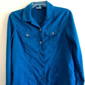 Blue Suede Shirt